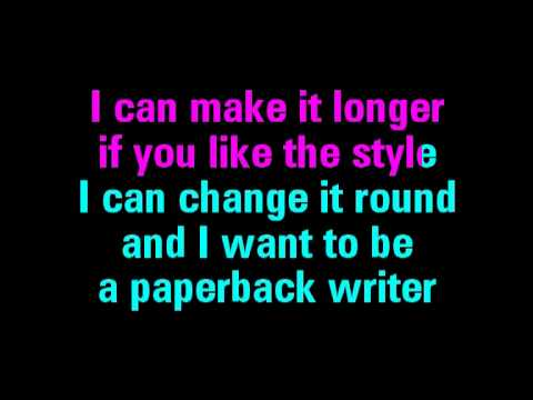 Paperback Writer Karaoke The Beatles - You Sing The Hits