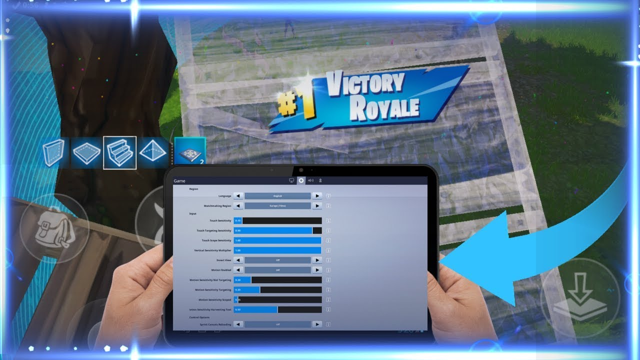 #1 BEST SETTINGS for Fortnite Mobile Android and iOS ! #1 Solo Showdown  Players HUD and Settings!