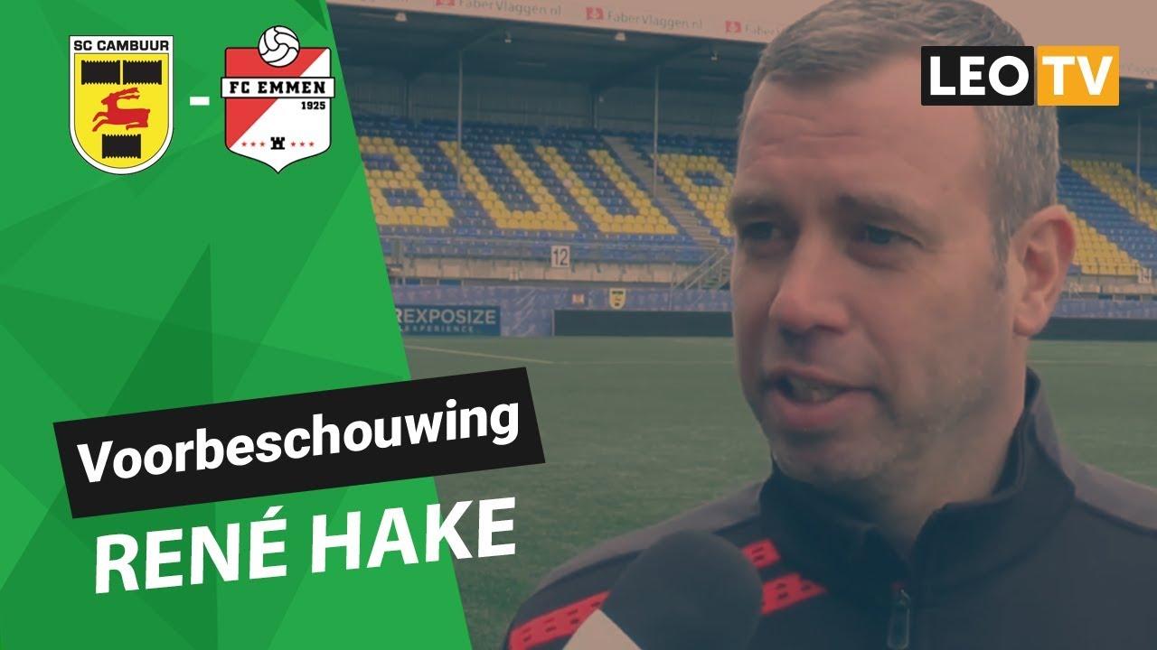 Voorbeschouwing Rene Hake Sc Cambuur Fc Emmen Youtube
