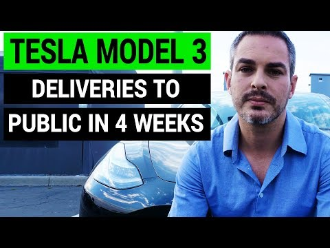 Tesla Model 3 Available to Public in 4 Weeks