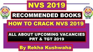 Best Book for NVS 2019 Principal, PGT, Assistant Commissioner, Exam Pattern, Syllabus, Books ll