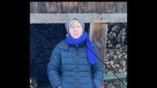 Franka Hopfgartner-Wurzer am Kunstadventkalender 2020 in Lienz