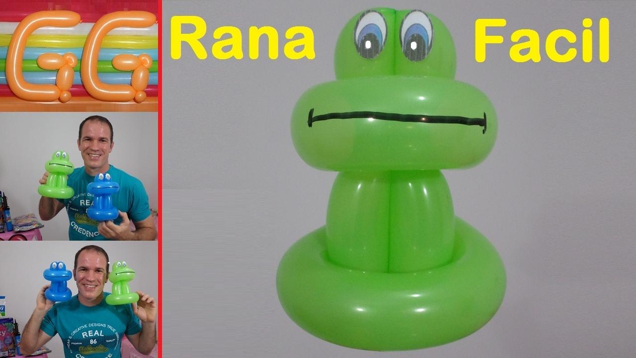 Como hacer una rana con globos como hacer figuras con - Hacer munecos con globos ...