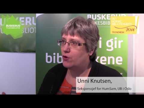 Intervju med Unni Knutsen, Seksjonsleder ved HumSam-biblioteket, UiO
