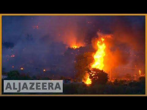 🇬🇷 🔥 Greece: Major forest fires rage near Athens as homeowners flee | Al Jazeera English