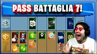 PASS BATTAGLIA FORTNITE SEASON 7 COMPLETO! FORTNITE SEASON 7 BATTLE PASS!