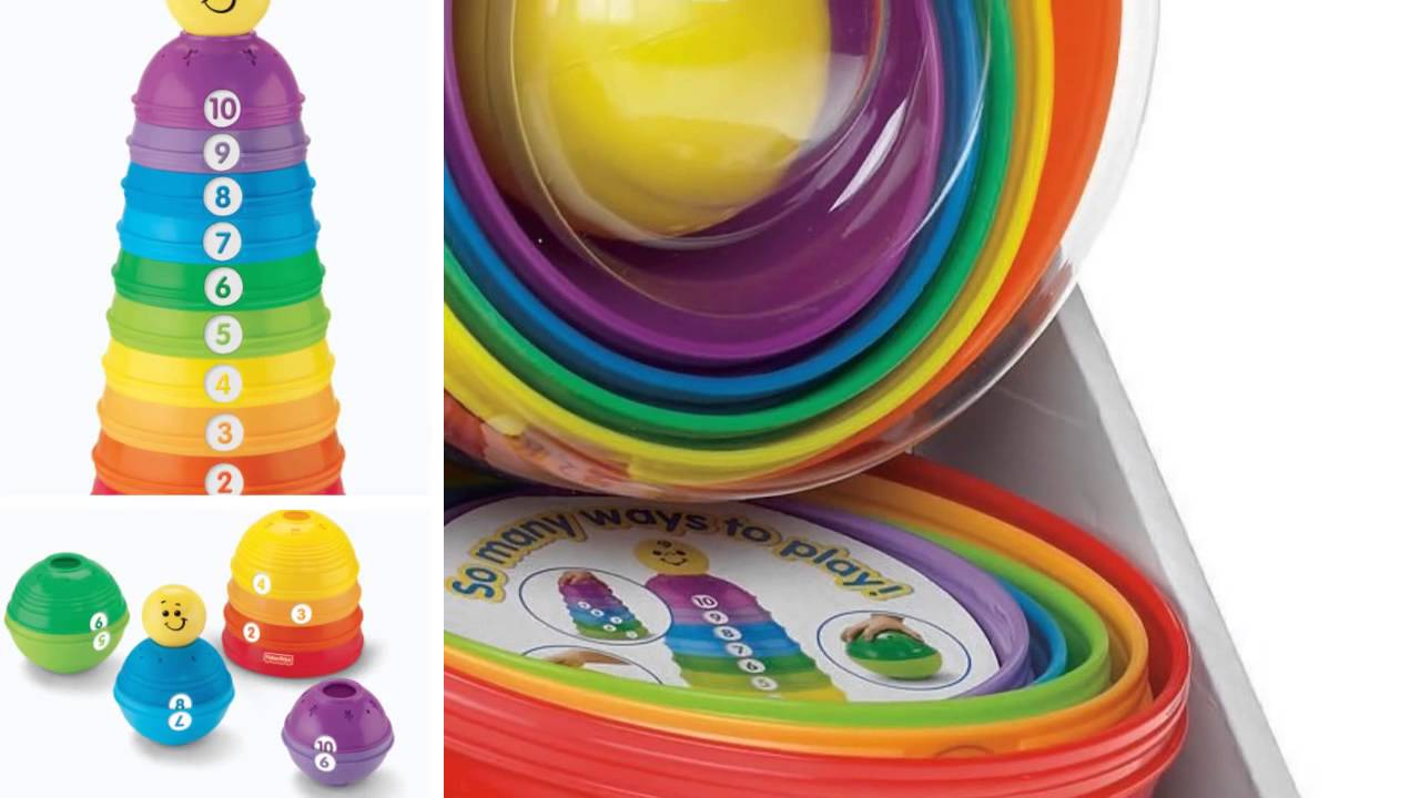 Fisher-Price Brilliant Basics Stack /& Roll Cups