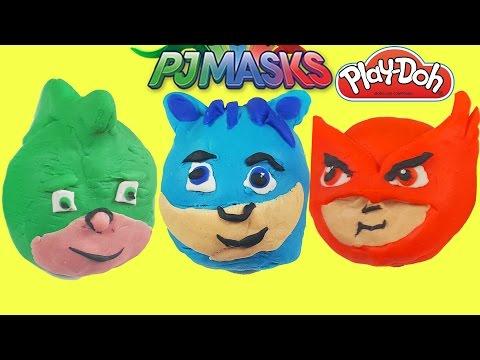 çizgi film karakterleri pijamaskeliler oyun hamuru play doh ile pijamaskeliler türkçe evcilik tv