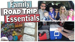 ROAD TRIP ESSENTIALS ||  Road Trip Survival HACKS for MOMS || Traveling with kids Video