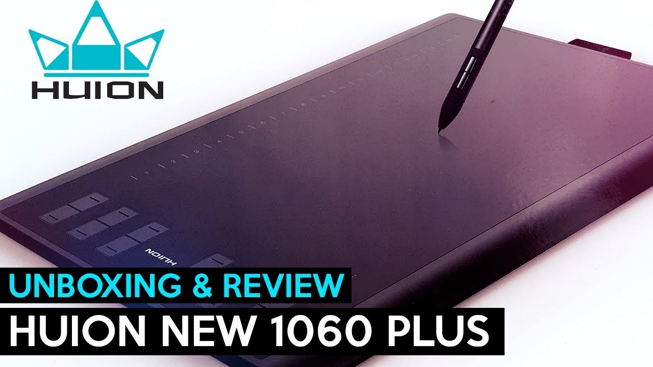 Huion New 1060 Plus Tablet【Unboxing & Review】 - YouTube