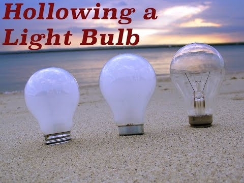 Down and Dirty: Hollowing a light bulb