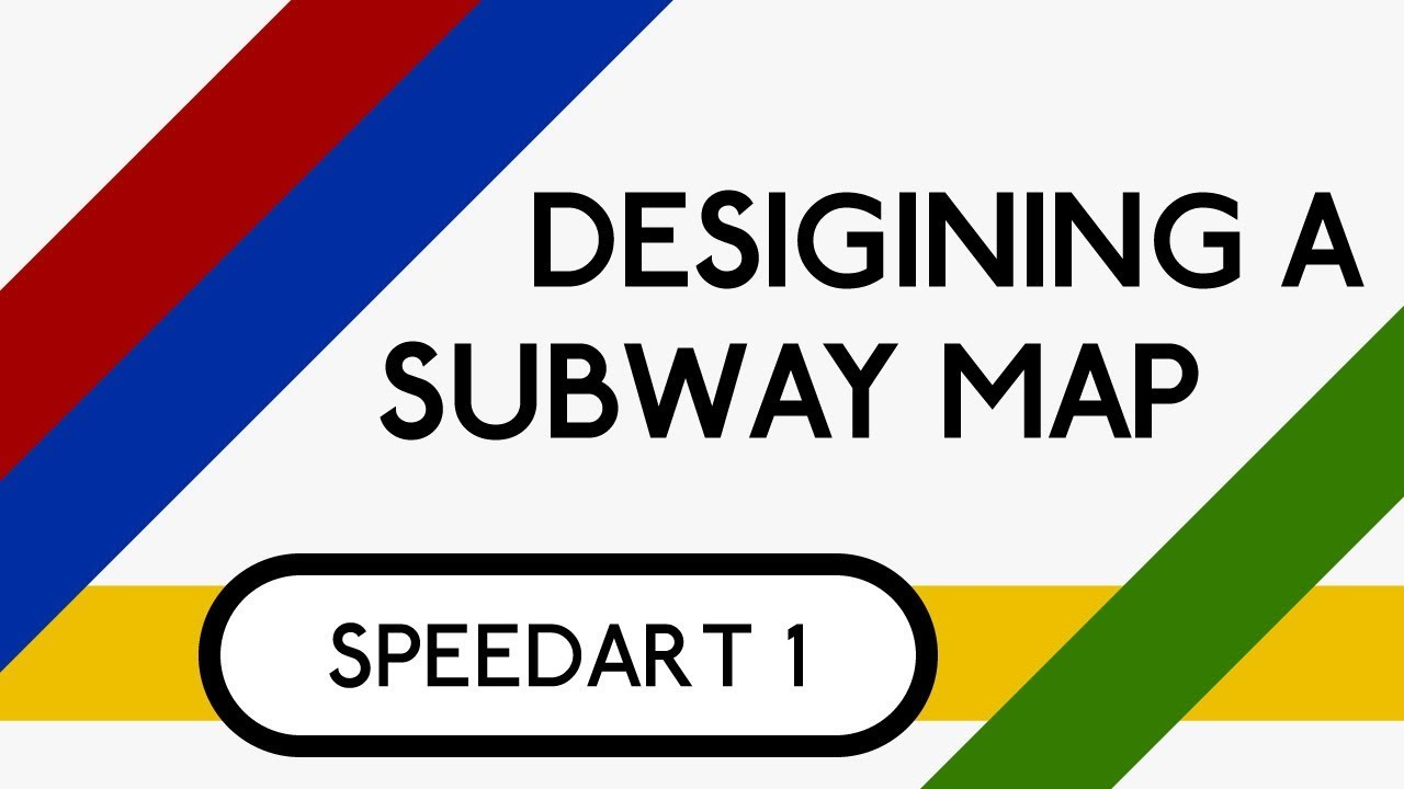 Custom Subway Map Creator.Designing A Subway Map Adobe Illustrator Speedart