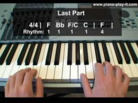 how to play let em in on piano