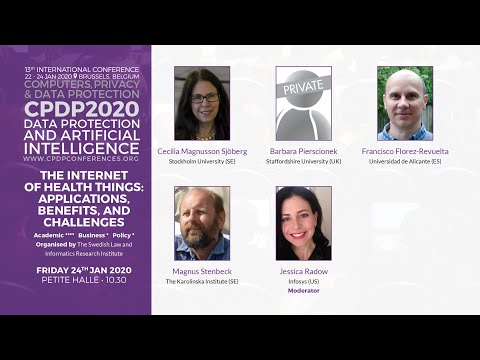 CPDP 2020: The Internet of Health Things: applications, benefits, and challenges.