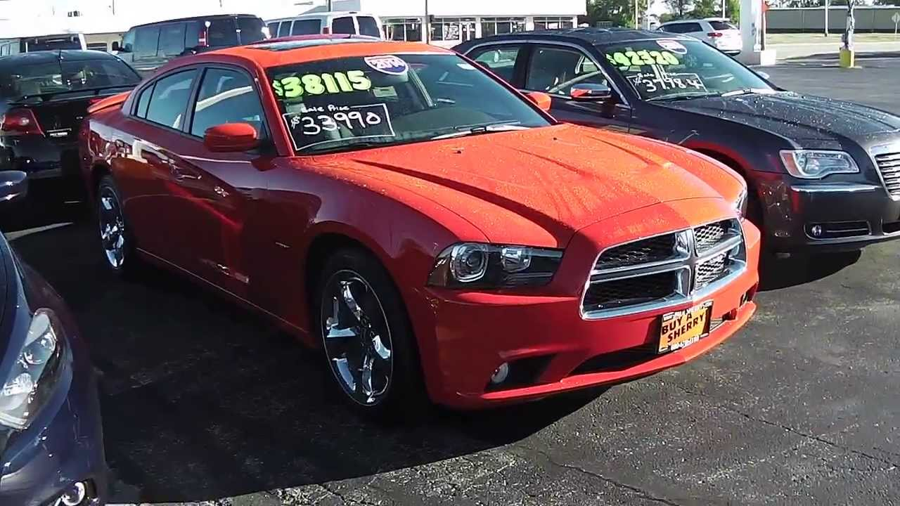 2014 dodge charger rt sedan red for sale dayton troy piqua sidney ohio 26827