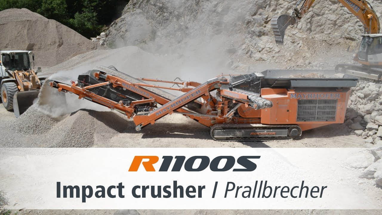 R1100S Rockster Impact Crusher - limestone quarry