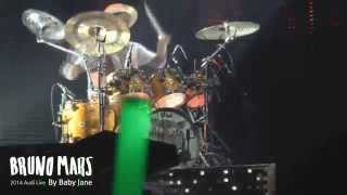 Bruno Mars [Drum Solo - Locked out of Heaven] @ 2014 Audi Live in Seoul - By Baby Jane♥