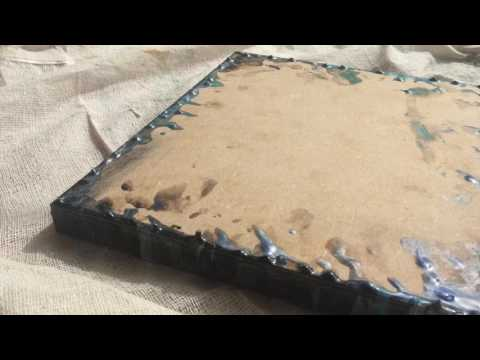 How to get dry resin drops off MDF