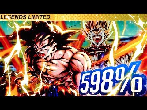 598% Legendary Finish Transforming SSJ Goku In Dragon Ball DB Legends
