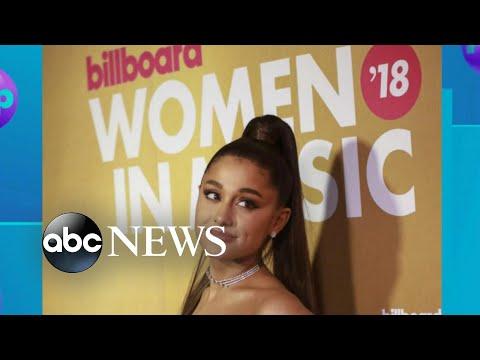 Ariana Grande accepts Billboard's Woman of the Year award Mp3