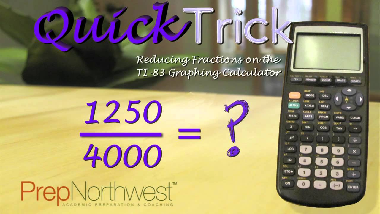 Reduce fractions with TI-83 calculator - YouTube
