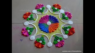 Small, easy and quick rangoli for beginners | Rangoli designs by Poonam Borkar