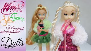 Winx Club - Stella and Flora Magical Microphone • Dolls Review [FR]