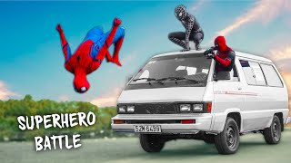 Download lagu SUPERHERO vs SUPERCAR | Spider-Man, Venom and Deadpool Go To City | Người Nhện lên thành phố