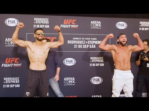 UFC Mexico City: Yair Rodriguez vs. Jeremy Stephens Weigh-In Staredown - MMA Fighting