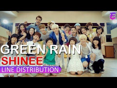[LINE DISTRIBUTON] SHINee - Green Rain
