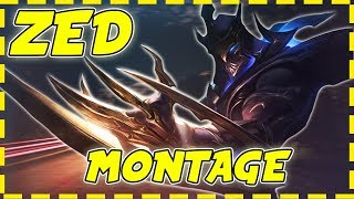 Face of Shadows - ZED MONTAGE - Best Mid Zed Plays ( League of Legends ) #3
