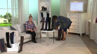 Marc Fisher Leather and Stretch Over-the-knee Boots - Monica with Amy Stran