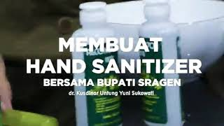 Hand sanitizer dengan barang ...
