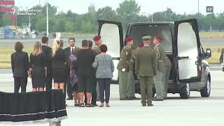 Plane With Bodies Of Czech Soldiers Killed In Afghanistan Lands In Prague