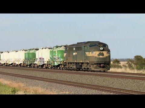 Pacific National Cement Train - PoathTV Australian Railways, Railroads & Trains