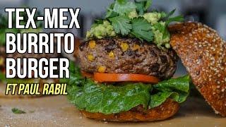 Tex-Mex Burrito Bowl Burger ft Paul Rabil / Hamburguesa de Burrito