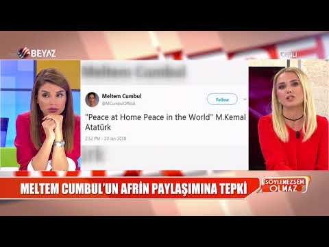 Meltem Cumbul'un Afrin paylaşımına tepki yağdı!