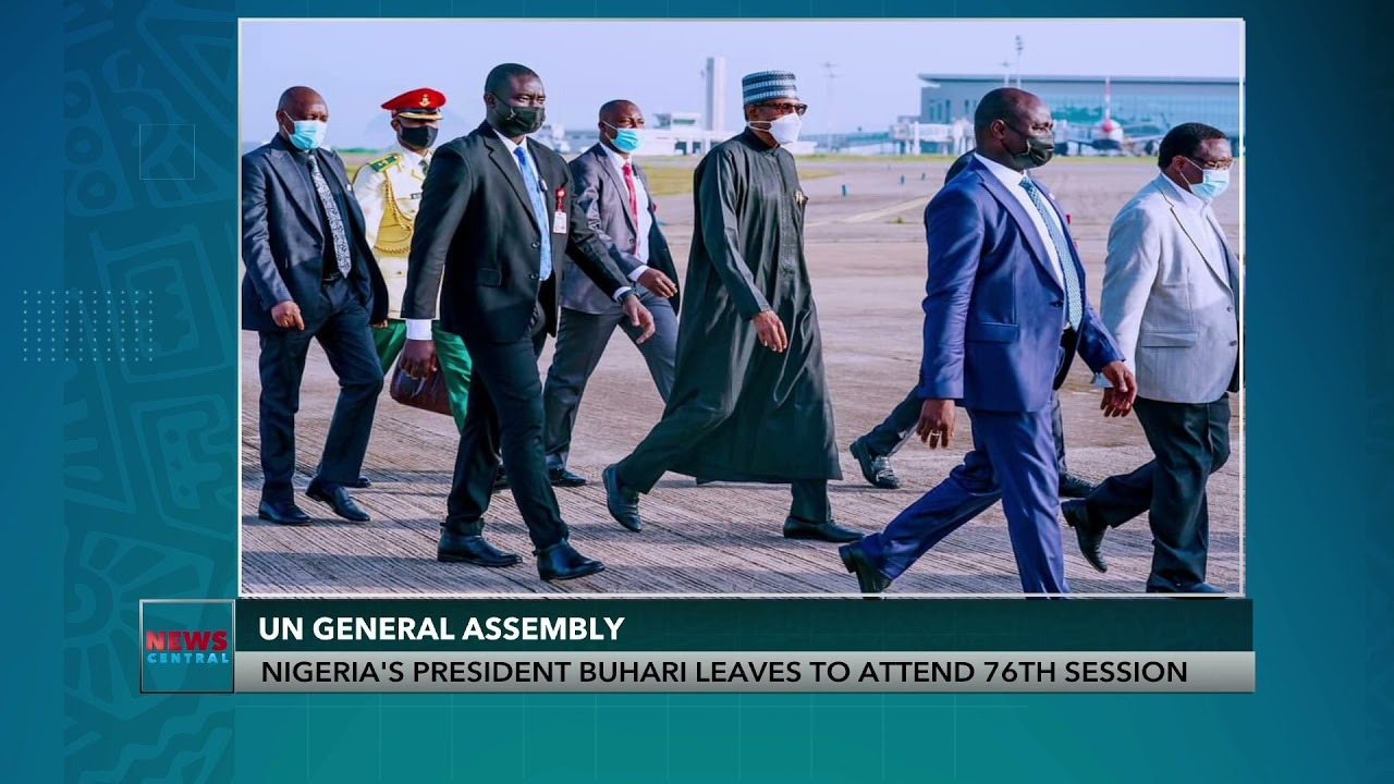 Download Nigeria's President Buhari Leaves to Attend United Nations 76th General Assembly