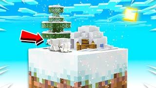 ICE CITY ON ONE MINECRAFT BLOCK! (EP 6)