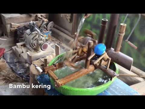Cara Membuat Kincir Air dari Bambu