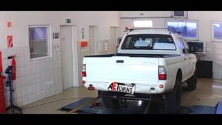 Mitsubishi L200 2.5TD 115LE AET CHIP Tuning referencia videó DYNO padi teljesítményméréssel