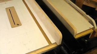 Homemade T-square Fence For Rebuilt Table Saw