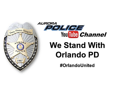 Aurora cops show support to Orlando