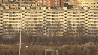 поезд Лев Толстой с 19 этажа СПБ ст.Парнас