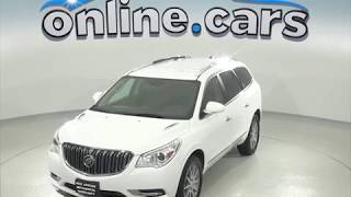 oA97503TA Used 2017 Buick Enclave SUV White Test Drive, Review, For Sale
