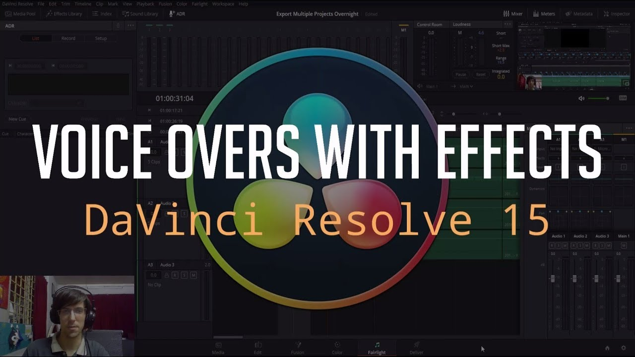 Recording Voice Over Audio (Audio Effects / VST Plugins Included)   DaVinci  Resolve 15