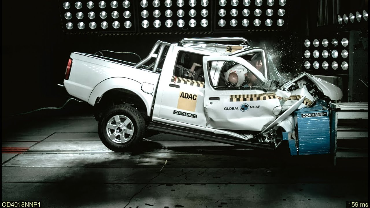 Watch This Nissan 'Hardbody' Collapse In A Zero-Rated Crash Test