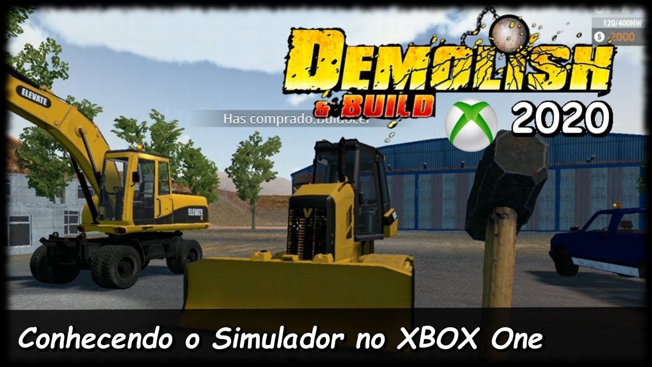 Simulador de Demolição no XBOX One | DEMOLISH & BUILD | Conhecendo o Início do Jogo (PT-BR)