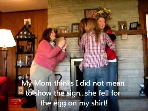 Excellent Thanksgiving Pregnancy Announcement - YouTube CS96