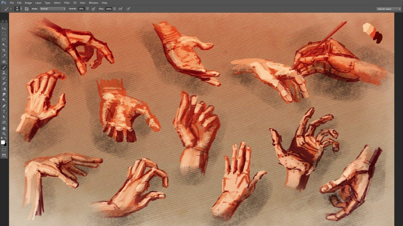 painting 12 hand poses youtube